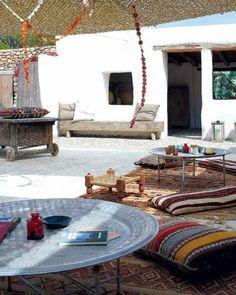 boho chic terrace decor (2)