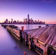 A New York City sunset