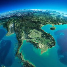 Planet Earth ©: Exaggerated relief map of continental Southeast Asia. Rpg Map, Physical Geography, World Geography, Earth From Space, Historical Maps, Mother Earth, Southeast Asia, Photos, Pictures