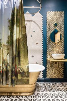 Clawfoot Bathtub, Curtains, Shower, Bathroom, Prints, Rain Shower Heads, Washroom, Blinds, Full Bath
