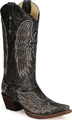 Womens Angel Wing Cross Corral Boot