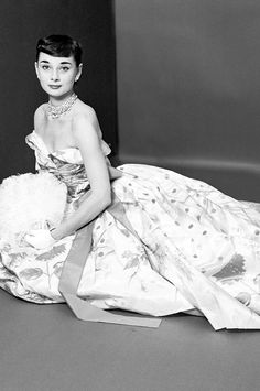 """Audrey Hepburn photographed by Richard Rutledge for Vogue magazine during her Broadway debut as Gigi. March 1, 1952. """"This was before she w..."""