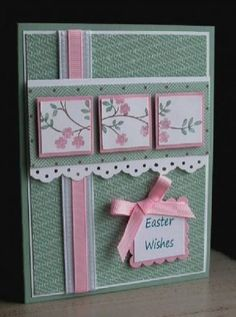 Easter Wishes by card crazy - Cards and Paper Crafts at Splitcoaststampers Easter Wishes, Easter Gift, Happy Easter, Card Sketches, Greeting Cards Handmade, Handmade Easter Cards, Diy Easter Cards, Creative Cards, Flower Cards