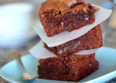 Brownie de chocolate con volutas de Spéculoos