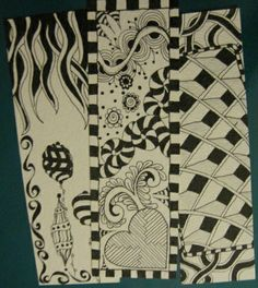 Zentangle Bookmarks rtist: Jennifer McLean Blog: www.JustAddWaterSilly.com Purchase bookmark for $7.50 each on Etsy: http://www.etsy.com/shop/justaddwatersilly