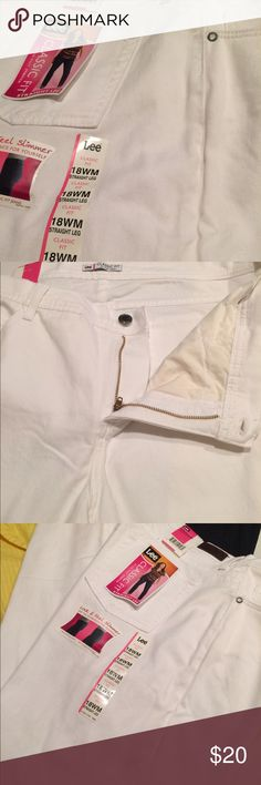 Lee jeans White jeans by Lee. Brand new with tags. Lee Jeans Straight Leg