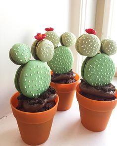 @craftychica Instagram • cactus macarons