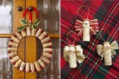 Decorazioni natalizie - tappi di sughero