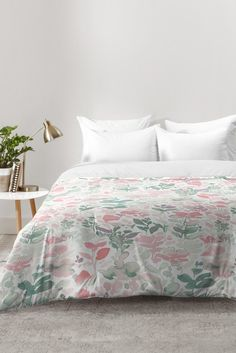 Jacqueline Maldonado Flirt Pale Green Comforter | DENY Designs Home Accessories