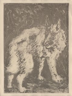 Pablo Picasso – Le Loup, 1936, Sugarlift aquatint printed on Montval laid paper