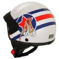 SMS Classico Pin Up Motorcycle Helmet (65% off MSRP) Brand New (X-Large) #SMSClassico