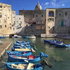 Puglia, Monopoli Old Port and Fishing Boats