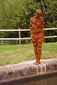 Land at Lowsonford, 2015 by Antony Gormley