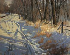 Barbara Jaenicke - Watch Out For Snowmobiles- Oil - Painting entry - December 2013 | BoldBrush Painting Competition