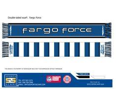 Custom Fargo Force hockey scarf!  Create one for your hockey team today!