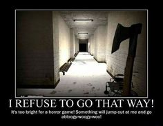 "This is me even though I don't play horror games. *gasp!* what if mcsm s2 ep3 ""jailhouse block"" will be like this!!???"