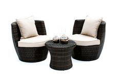 Rattan Tub Chair and Round Coffee Table, perfect for summer events - available to hire from www.d-zinefurniture.co.uk