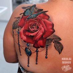 Beautiful Roses, Tattoo Studio, Tattoos, Flowers, Tatuajes, Tattoo, Royal Icing Flowers, Flower, Florals