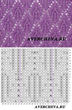 Ewa Sielska's media content and analytics Lace Knitting Stitches, Lace Knitting Patterns, Knitting Charts, Easy Knitting, Knitting Socks, Stitch Patterns, Diy Scarf, Knitting Projects, Knitting Patterns