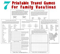 7 Printable Travel G