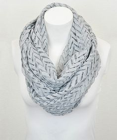 Look at this #zulilyfind! Leto Collection Gray Zigzag Lace Infinity Scarf by Leto Collection #zulilyfinds