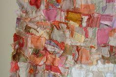 Detail of Barbara WISNOSKI 's pieced work -  pink field after rothko - 150 x 107 cm