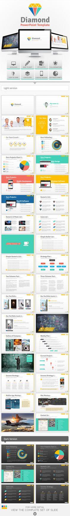 Diamond PowerPoint Template (PowerPoint Templates)