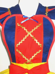 Snow White Inspired Costume Apron by FlirtyandFunAprons on Etsy
