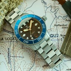The Tugela 2.0 Blue. We made a number of changes for this version, most noticeably included a steel bracelet. Other small details include: - Bolder indices on the dial with brighter X1-C3 lume - Bolder hands with brighter lume - Lumed bezel - Longer crown with lumed logo on the tip - Viton gasket for the longevity of the seals - Engraved Draken logo on the case.   #drakenwatches #draken #tacticalgear #watchuseek #adventure #explorer #outdoorequipment #microbrand #diver