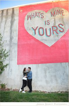Philly love letter wall murals engagement session. West Philadelphia.