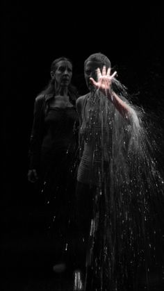 Bill Viola. Two Women, 2008.  Color High-Definition video on plasma display mounted on wall.   Performers: Pamela Blackwell and Weba Garretson.  Photo: Kira Perov