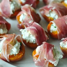 basil, goat cheese + marcona almond stuffed apricots wrapped in proscuitto recipe + a little reminiscing about pintxos in san sebastian - Dear Handmade Life Light Appetizers, Yummy Appetizers, Appetizers For Party, Appetizer Recipes, Fig Appetizer, Party Snacks, Wine Recipes, Cooking Recipes, Cheese Pairings
