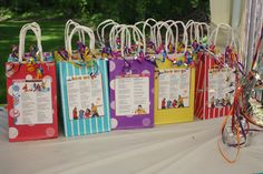 Fresh Beat Band birthday party goody bags