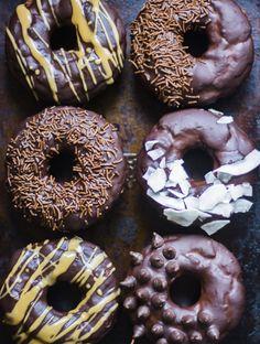 Double choc spelt baked doughnuts