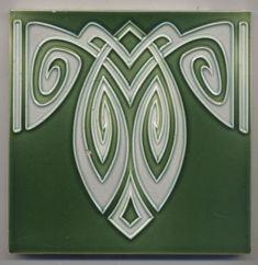Super rare  Bankel  Ornament  Jugendstil  Fliese  art  nouveau tile