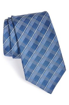 Men's John Varvatos Star USA Check Silk Tie
