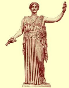Black and white photograph of a full-length statue of Demeter (Ceres), at the Vatican in Rome.