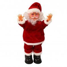 Babbo Natale che canta e balla e fa la verticale 31cm - Decorazione natalizia Modellino musicale di Santa Claus che si muove Natale Santa Claus - Babbo Natale che canta e balla della ditta [lux.pro] 17,50 € #natale #babbo #muove #decorazione #feste