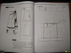 Design and style skirte--etekler - modelist kitapları Clothing Patterns, Dress Patterns, Sewing Patterns, Pola Rok, Modelista, Pattern Drafting, Sewing Techniques, Pattern Making, Skirt Fashion
