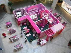 top view of life size Barbie house