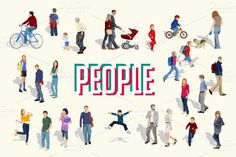 Check out Vector people by Rosa Puchalt on Creative Market