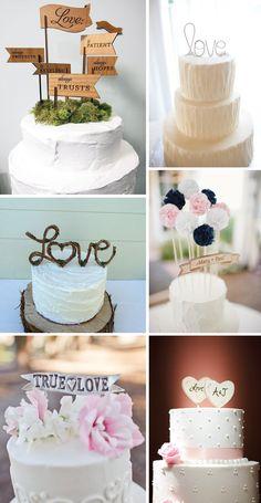 4 ideias diferentes para o topo do bolo