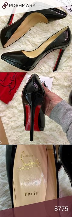 dbacc053a4af Christian Louboutin Pigalle Plato Pumps Black 36.5 Christian Louboutin  Plato Pigalle 120 Platform Pointy Pumps in