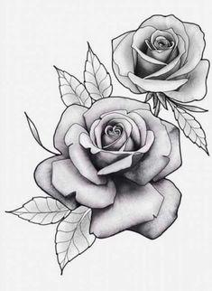 , Flores , Flores , A imagem pode conter: flor e planta 3 rose forearm tattoo