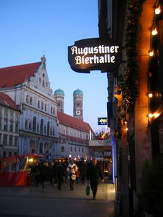 Augustiner Bierhalle - Munich, Germany (Had a gtreat dinner here and lots of beer.)