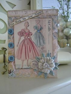 Sewing-themed Card
