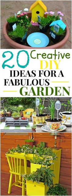 These 20 creative ideas for a fabulous garden are absolutely gorgeous and so easy to do. Spring gardening is always fun.