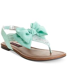 MINT LOOK (see rest of board) Prom shoes Material Girl Skylar Flat Sandals