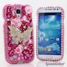 Style 398  This Bling case can be handcrafted for Samsung Galaxy S3, S4, S5, Note 2, Note 3.Our professional designers will handcraft a case for you in as little as 2 weeks.