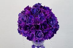 DIY Purple Passion Wedding Centerpiece in 3 Easy Steps – Wedding Centerpieces Unique Wedding Centerpieces, Wedding Table Centerpieces, Wedding Flower Arrangements, Diy Wedding Decorations, Flower Centerpieces, Wedding Ideas, Yellow Centerpieces, Floral Arrangements, Centerpiece Ideas